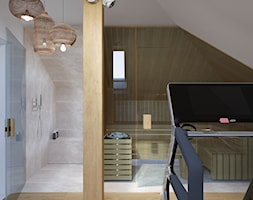 Projekt salonu kąpielowego ze strefą sportową. - zdjęcie od Architekt Wnętrz Patrycja Wojtaś - Homebook