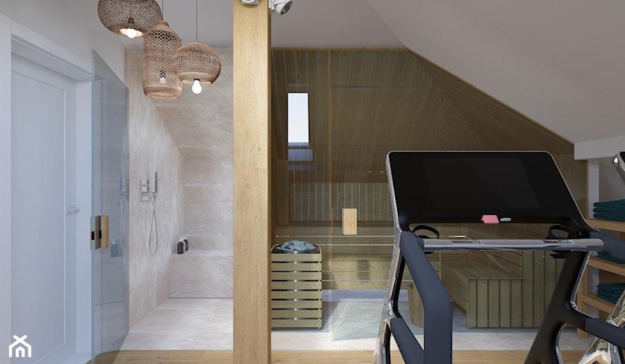 Projekt salonu kąpielowego ze strefą sportową. - zdjęcie od Architekt Wnętrz Patrycja Wojtaś