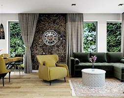 Projekt domu jednorodzinnego w Krakowie - Salon, styl prowansalski - zdjęcie od Architekt Wnętrz Patrycja Wojtaś - Homebook
