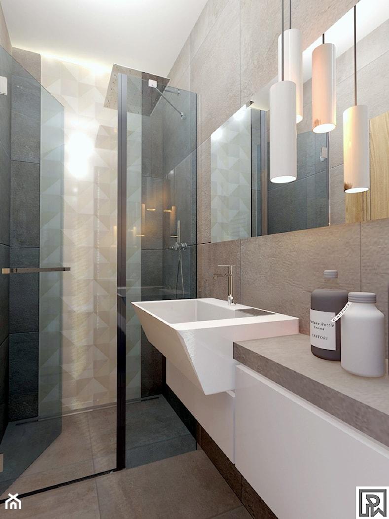 Projekt małej łazienki w Bielsku-Białej - zdjęcie od Architekt Wnętrz Patrycja Wojtaś - Homebook