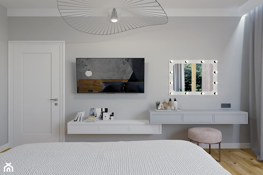 Projekt sypialni w domu jednorodzinnym w Bielsku-Białej. - zdjęcie od Architekt Wnętrz Patrycja Wojtaś