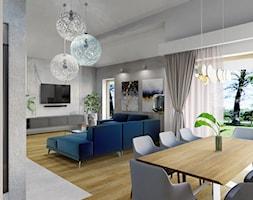 Projekt salonu z jadalnią w domu jednorodzinnym w Bielsku-Białej - zdjęcie od Architekt Wnętrz Patrycja Wojtaś - Homebook
