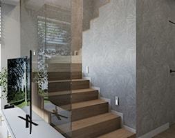Projekt domu jednorodzinnego w Krakowie - Schody, styl nowoczesny - zdjęcie od Architekt Wnętrz Patrycja Wojtaś - Homebook