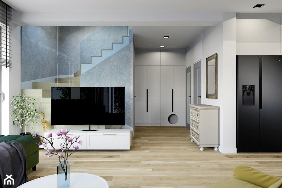 Projekt domu jednorodzinnego w Krakowie - Salon, styl prowansalski - zdjęcie od Architekt Wnętrz Patrycja Wojtaś
