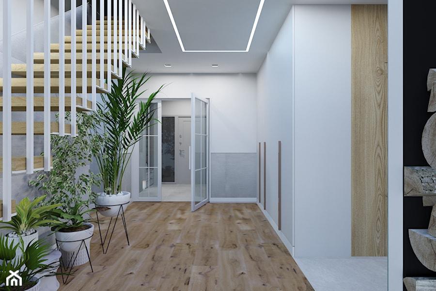 Projekt korytarza w domu jednorodzinnym w Bielsku-Białej - zdjęcie od Architekt Wnętrz Patrycja Wojtaś