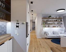 House flipping - inwestowanie w mieszkania - Średni biały salon z kuchnią - zdjęcie od Architekt Wnętrz Patrycja Wojtaś