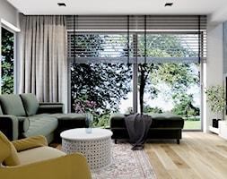 Projekt domu jednorodzinnego w Krakowie - Salon, styl nowoczesny - zdjęcie od Architekt Wnętrz Patrycja Wojtaś - Homebook