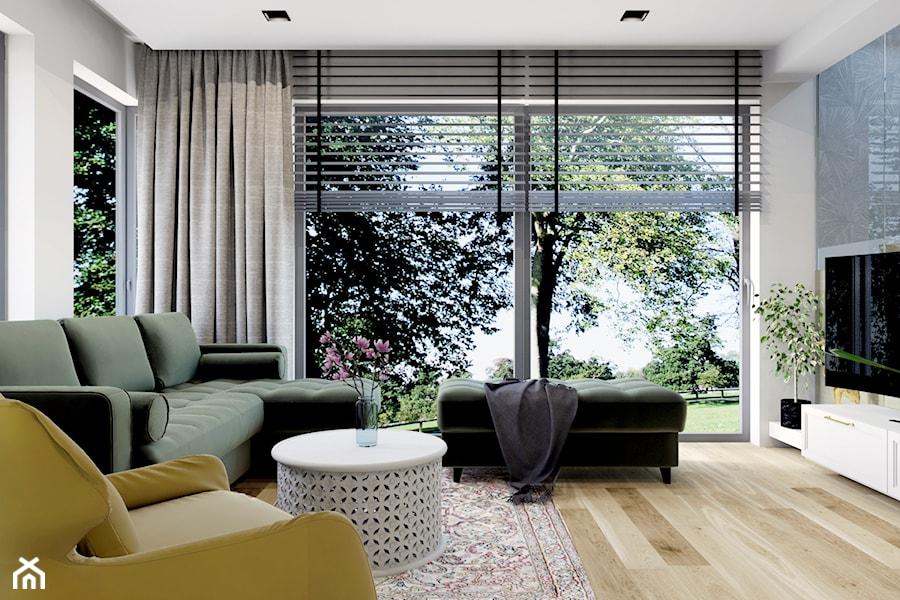 Projekt domu jednorodzinnego w Krakowie - Salon, styl nowoczesny - zdjęcie od Architekt Wnętrz Patrycja Wojtaś