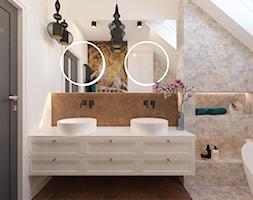 Projekt domu jednorodzinnego w Krakowie - Łazienka, styl eklektyczny - zdjęcie od Architekt Wnętrz Patrycja Wojtaś - Homebook