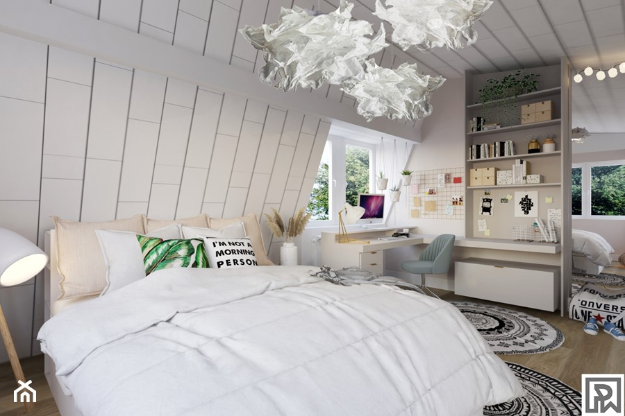 Pokój nastolatki w stylu Boho - Pokój dziecka, styl rustykalny - zdjęcie od Architekt Wnętrz Patrycja Wojtaś
