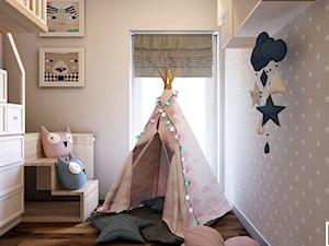 Pokój 5 latki w Bielsku-Białej w stylu skandynawskim. - zdjęcie od Architekt Wnętrz Patrycja Wojtaś
