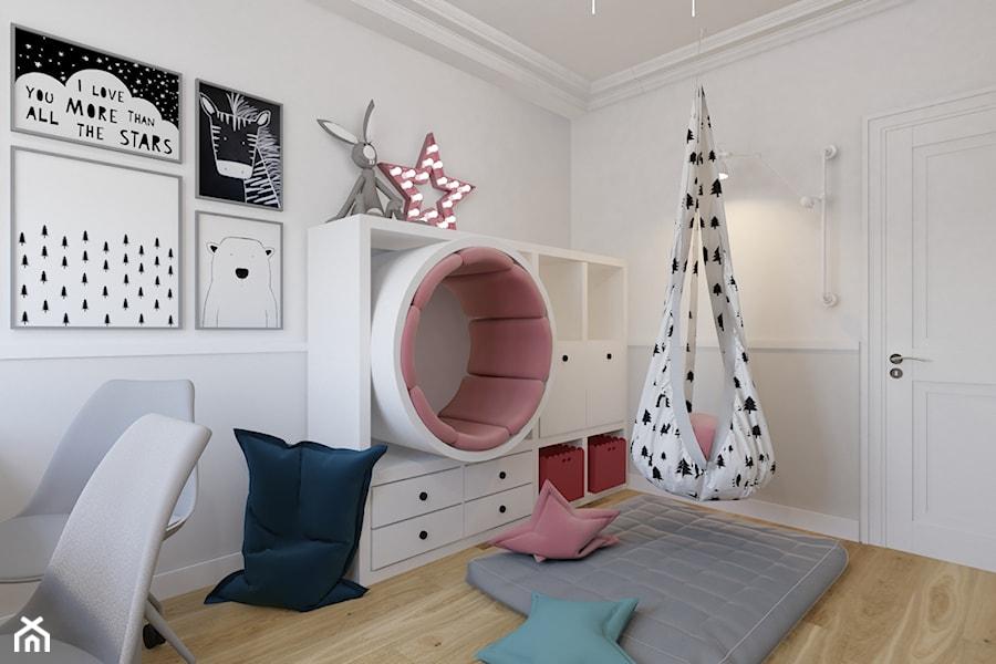 Projekt pokoju, bawialni dla córek w domu jednorodzinnym w Bielsku-Białej. - zdjęcie od Architekt Wnętrz Patrycja Wojtaś