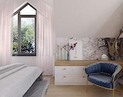 Projekt domu jednorodzinnego w Krakowie - Sypialnia, styl art deco - zdjęcie od Architekt Wnętrz Patrycja Wojtaś - Homebook