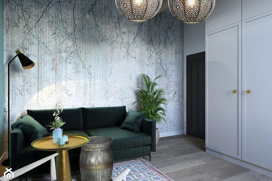 Projekt domu jednorodzinnego w Krakowie - Sypialnia, styl kolonialny - zdjęcie od Architekt Wnętrz Patrycja Wojtaś