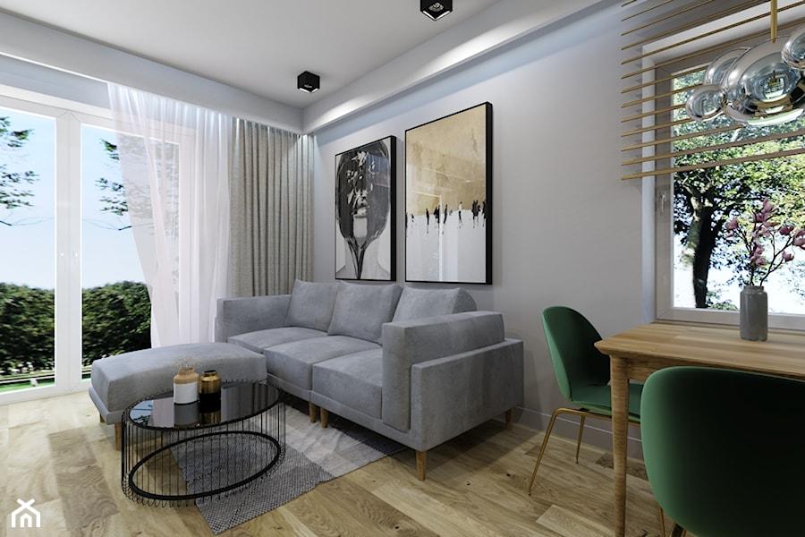 Dom w Kozach - Salon, styl nowoczesny - zdjęcie od Architekt Wnętrz Patrycja Wojtaś
