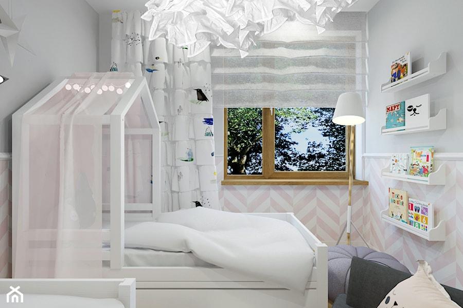 Projekt pokoju - sypialnia córek z garderobą. - zdjęcie od Architekt Wnętrz Patrycja Wojtaś