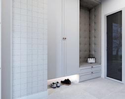 Projekt wiatrołapu i korytarza w domu jednorodzinnym w Bielsku-Białej - zdjęcie od Architekt Wnętrz Patrycja Wojtaś - Homebook