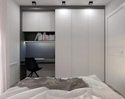Kawalerka w Bielsku-Białej - Garden Park - Średnia biała szara sypialnia małżeńska, styl nowoczesny - zdjęcie od Architekt Wnętrz Patrycja Wojtaś - Homebook