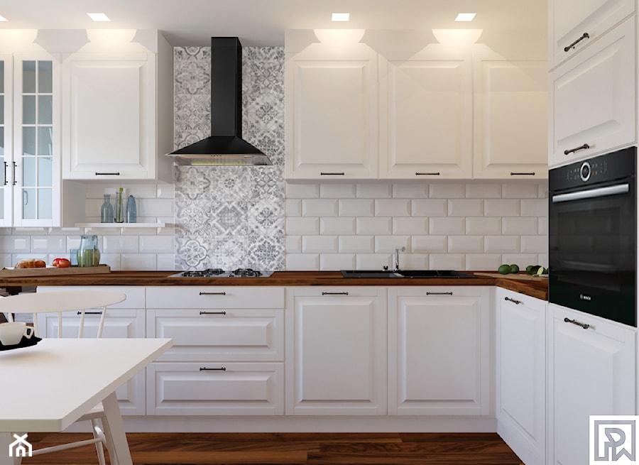 Kuchnia na Jodłowej  zdjęcie od Architekt Wnętrz Patrycja   -> Kuchnia Z Okapem Teleskopowym