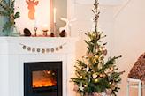 skandynawska dekoracja świąteczna salonu