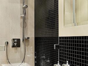 EKO PARK - Mała czarna szara łazienka na poddaszu w bloku w domu jednorodzinnym bez okna, styl klasyczny - zdjęcie od Ewelina Mąkosa - Interiors Creation