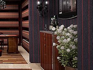 Średnie czarne biuro domowe kącik do pracy w pokoju, styl vintage - zdjęcie od KORULCZYK LUXURY DESIGN