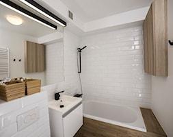 #FRN2 - Mała biała łazienka w bloku bez okna - zdjęcie od Och-Ach_Concept