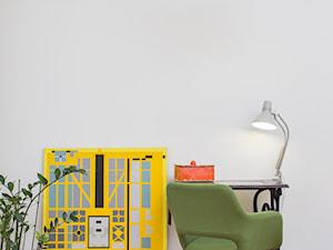 Skandynawska, kolorowa sypialnia - zdjęcie od Och-Ach_Concept