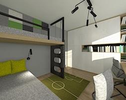Nowoczesne mieszkanie z elemntami industrialnymi - Pokój dziecka, styl nowoczesny - zdjęcie od ZIELONE studio projektowe