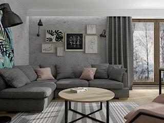 Mieszkanie z betonem i kolorem