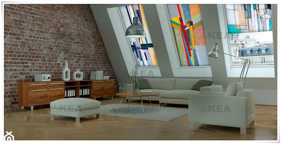 Aranżacje wnętrz - Salon: Rolety dachowe deKEA z pieknymi obrazami - deKEA Polska. Przeglądaj, dodawaj i zapisuj najlepsze zdjęcia, pomysły i inspiracje designerskie. W bazie mamy już prawie milion fotografii!