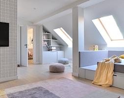 Orlove - Duży biały szary pokój dziecka dla chłopca dla dziewczynki dla nastolatka, styl eklektyczny - zdjęcie od Ministerstwo Spraw We Wnętrzach