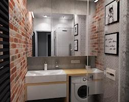 METAMORFOZA MIESZKANIA - NOWA SÓL - Mała łazienka, styl rustykalny - zdjęcie od KADA WNĘTRZA S.C