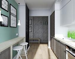 METAMORFOZA MIESZKANIA - SULECHÓW - Średnia otwarta wąska zielona kuchnia jednorzędowa, styl nowoczesny - zdjęcie od KADA WNĘTRZA S.C