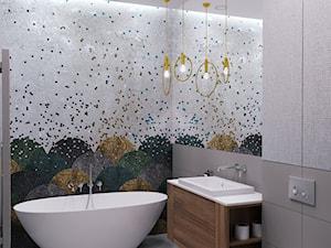 Spokojna przystań - Średnia biała szara kolorowa łazienka bez okna, styl nowoczesny - zdjęcie od Projektownia Wnętrz