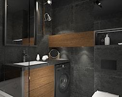 Homme Ideal - Mała czarna łazienka w bloku w domu jednorodzinnym bez okna, styl nowoczesny - zdjęcie od RAPA Living