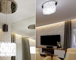 apartament Magnolia - Mały biały salon, styl nowoczesny - zdjęcie od Pracownia Wnętrza