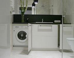 apartament do wynajęcia - Mała beżowa łazienka, styl nowoczesny - zdjęcie od Pracownia Wnętrza