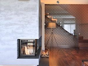 * dom bibice - Małe wąskie schody zabiegowe drewniane, styl nowoczesny - zdjęcie od d e s e n i e