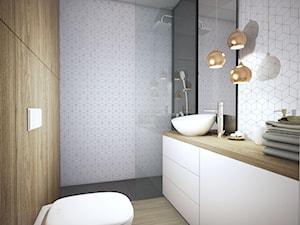 Niewielkie i wygodne - Mała łazienka w bloku jako salon kąpielowy bez okna - zdjęcie od Nubo Interior