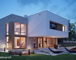 Dom jednorodzinny pod Piasecznem - Duże jednopiętrowe nowoczesne domy jednorodzinne murowane, styl ... - zdjęcie od Laboarch Domy i Wnętrza - Homebook