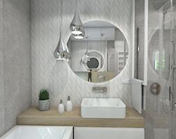 Łazienka - Mała łazienka w bloku w domu jednorodzinnym z oknem, styl nowoczesny - zdjęcie od Muchart projektowanie wnętrz Małgorzata Mucha