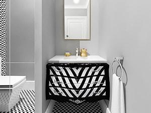 projekt 4 - Mała szara łazienka, styl eklektyczny - zdjęcie od Pracownia projektowania wnętrz Loci