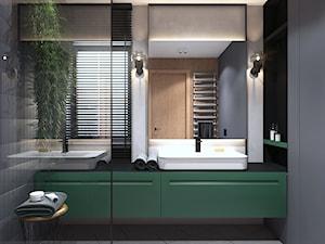 Projekt łazienki z zielenią