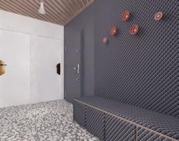 Projekt 11 - Duży biały czarny hol / przedpokój, styl nowoczesny - zdjęcie od Pracownia projektowania wnętrz Loci