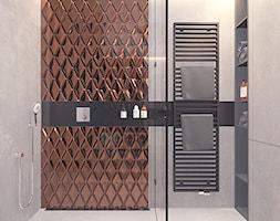 Projekt 16 - Średnia szara łazienka, styl nowoczesny - zdjęcie od Pracownia projektowania wnętrz Loci