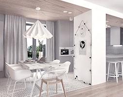 Projekt 12 - Jadalnia, styl skandynawski - zdjęcie od Pracownia projektowania wnętrz Loci