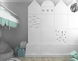 projekt 7 - Mały szary pokój dziecka dla chłopca dla dziewczynki dla malucha, styl skandynawski - zdjęcie od Pracownia projektowania wnętrz Loci