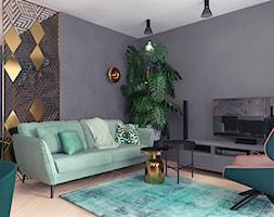 projekt 10 - Średni czarny salon, styl nowoczesny - zdjęcie od Pracownia projektowania wnętrz Loci