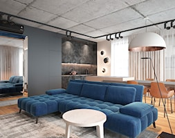 Salon+z+aneksem+kuchennym+oraz+wysp%C4%85.+-+zdj%C4%99cie+od+Pracownia+projektowania+wn%C4%99trz+Loci